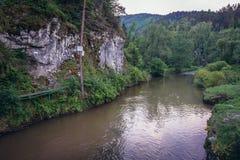 Hornadrivier in Slowaaks Paradijs stock foto's