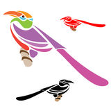 Hornbill. S colorful design on white background Stock Photos