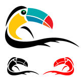 Hornbill. Colorful logo on white background Royalty Free Stock Photo