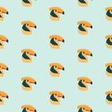 Hornbill bird pattern. Royalty Free Stock Photo