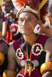 Hornbill Festival of Nagaland, India. Naga tribes wear traditional dress at the Hornbill festival that is held annually in the 1st week of December. The royalty free stock photo