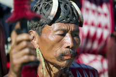 Hornbill Festival of Nagaland, India. Naga tribes wear traditional dress at the Hornbill festival that is held annually in the 1st week of December. The royalty free stock image