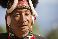 Hornbill Festival of Nagaland, India. Naga tribes wear traditional dress at the Hornbill festival that is held annually in the 1st week of December. The royalty free stock photos