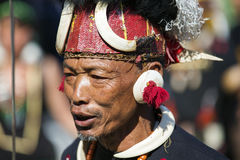 Hornbill Festival of Nagaland, India. Naga tribes wear traditional dress at the Hornbill festival that is held annually in the 1st week of December. The royalty free stock images