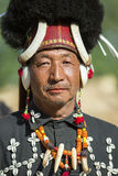 Hornbill Festival of Nagaland, India. Naga tribes wear traditional dress at the Hornbill festival that is held annually in the 1st week of December. The stock photography