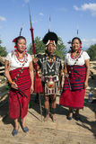 Hornbill Festival of Nagaland, India. Naga tribes wear traditional dress at the Hornbill festival that is held annually in the 1st week of December. The Stock Photo