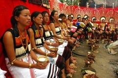 Hornbill-Festival von Nagaland-Indien. Stockfotografie