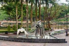 Hornbill Fountain in Kuching Stock Images