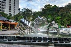 Hornbill Fountain in Kuching Royalty Free Stock Image