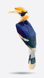 Hornbill low polygon Royalty Free Stock Images