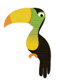 Hornbills are made of paper. On white Stock Photography