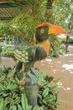 Hornbillsbeeldhouwwerken in tuin, Ayuthaya Thailand Royalty-vrije Stock Afbeelding