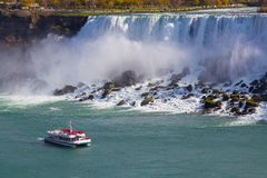 Hornblower Boat and American Falls Stock Photography