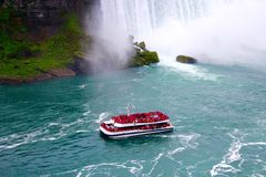 HORNBLOWER. By the hornblower you could reach the bottom of the Niagara Falls with the scream and excitement royalty free stock photos