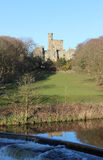 Hornby Castle and River Wenning, Lancashire Stock Photography