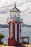 Hornby fyr, södra huvud, Sydney Harbour, Australien Arkivfoto
