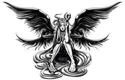 Horned ängel Royaltyfri Fotografi