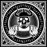 horned богато украшенный череп квада Стоковое Изображение