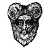 Horned божество Стоковые Фото