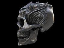Horned demon heavy metal skull Royalty Free Stock Photography