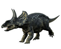 Horned Dinosaur. 3D render of a two horned dinosaur Stock Photos