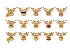 Horned elk – emotions Stock Photography
