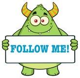 Horned Green Monster Royalty Free Stock Photo