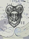 Horned Grunge божества Стоковые Фотографии RF