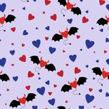 Horned Hearts Seamless Pattern Royalty Free Stock Photo