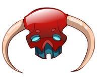 Horned Mask, Vector Illustration. Stock Image
