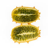 Horned melon. Isolated on white background Stock Photo