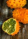 horned melon Fotografering för Bildbyråer