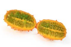 Horned melon (Cucumis metuliferus) Stock Image