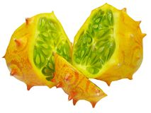 Horned melon fruit Stock Photo
