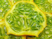 Horned melon fruit Stock Photos