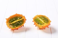 Horned melon Royalty Free Stock Image