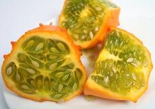 Horned melon horizontal Royalty Free Stock Photo