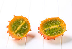 Horned melon Royalty Free Stock Images