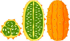 Horned melon, kiwano, African horned cucumber Stock Photography