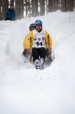 Horned Sledge Race 2012 in Turecka, Slovakia Royalty Free Stock Photography