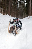 Horned Sledge Race 2012 in Turecka, Slovakia Stock Photo