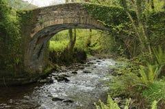 Horner Packhorse Bridge. Over Horner Water, Exmoor Royalty Free Stock Photo