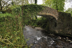 Horner Packhorse Bridge. Over Horner Water, Exmoor Royalty Free Stock Images