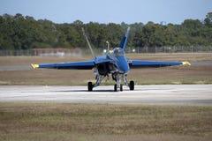 Hornet fighter jet on runway Royalty Free Stock Image