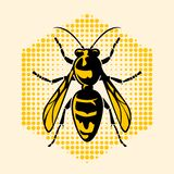The hornet icon and symbolic. The hornet icon and symbolic, vector illustration stock illustration
