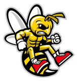Hornet mascot. Vector of angry hornet mascot Royalty Free Stock Image