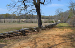 Hornet's Nest at Shiloh NMP. Three Union divisions defended along the sunken road during the Battle of Shiloh. 2,100 Union soldiers were finally forced to Royalty Free Stock Photography