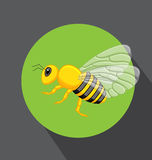 Hornet Vector. Comic Hornet Insect Vector Illustration royalty free illustration
