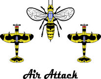 Hornet. Vector graphics. additional format eps10 Stock Photography