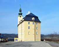 Horni zamek chateau in Fulnek. During spring day with clear sky Stock Photo